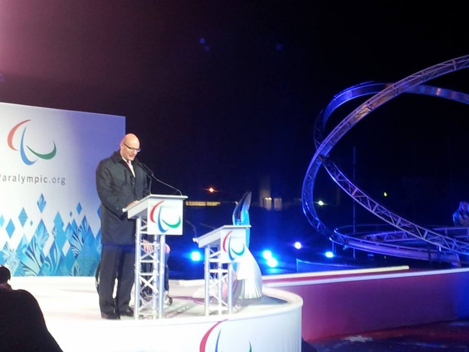 Among the speakers during the Ceremony was Sochi 2014 chief Dmitry Chernyshenko ©ITG