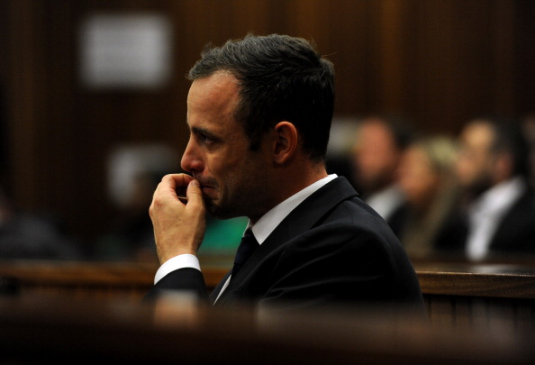 Oscar Pistorius on day eight of his murder trial ©AFP/Getty Images