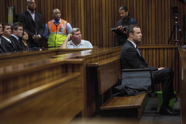 Oscar Pistorius was far more composed in court today ©Getty Images