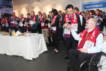 President Kim and IPC boss Sir Philip Craven at the event to mark four years to go ©Pyeongchang 2018