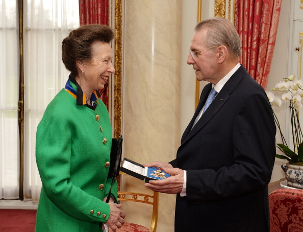 Princess Anne, pictured here with former IOC President Jacques Rogge, is President of World Horse Welfare ©AFP/Getty Images