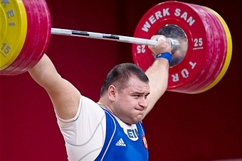 Ruslan Albegov has been voted IWF Male Lifter of 2013 ©Getty Images