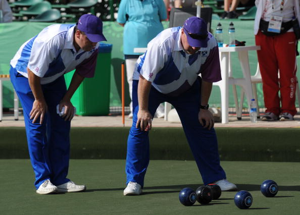 Scotland's Glasgow 2014 lawn bowls team has appeared at a total of 20 Commonwealth Games between them and secured three gold medals ©Getty Images