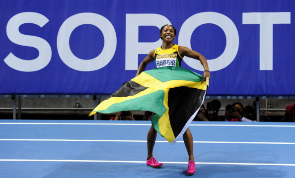 Shelly-Ann Fraser-Pryce took gold at her World Indoor Athletics Championships debut ©AFP/Getty Images