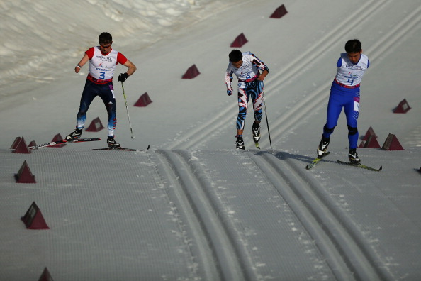 Skiers battle it out in the 20km standing cross-country ©Getty Images