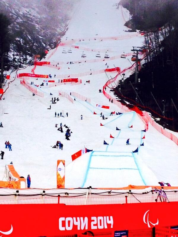 Snowboarding is set for its Paralympic debut on a slightly foggy day seven in Sochi ©Twitter