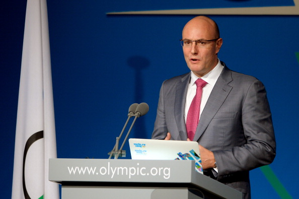 Sochi 2014 Organising Committee President Dmitry Chernyshenko says the partnership with Panasonic will help ensure the Games is modern and innovative ©AFP/Getty Images