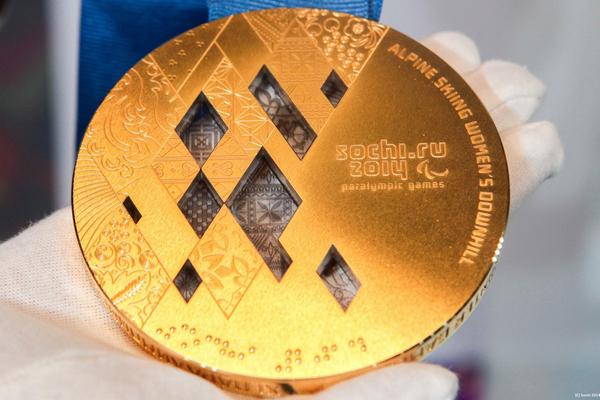 Sochi 2014 Paralympic gold medal