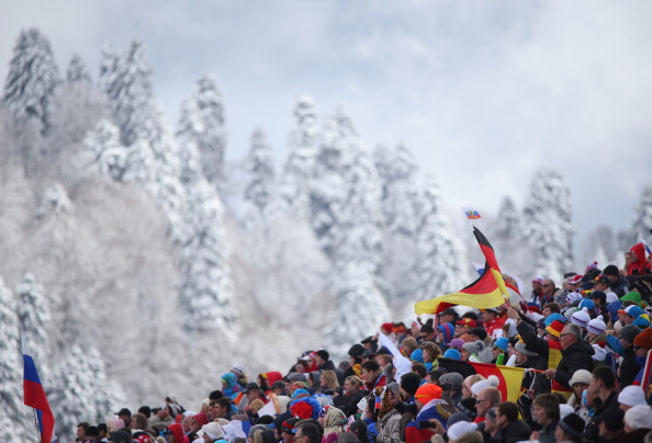 Some impressive crowds on day seven at all the venues including at the biathlon ©Getty Images