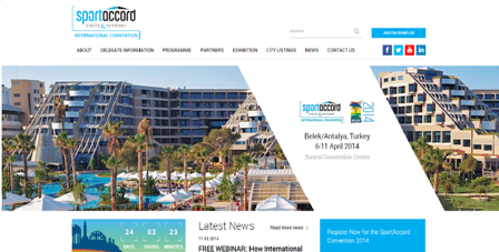 SportdAccord Convention has relaunched its website ©SportdAccord Convention