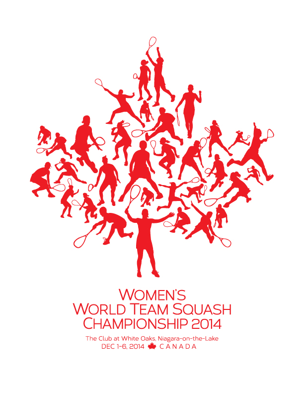 The logo has been unveiled for the Women's World Team Championships ©Squash Canada