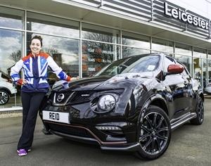 Stefanie Reid poses with her new Nissan Juke Nismo ©Nissan