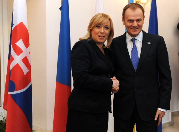 There has been cooperation over the bid from Slovakian and Polish figures including their respective Prime Ministers Iveta Radičová and Donald Tusk ©AFP/Getty Images