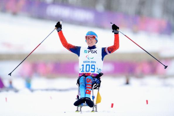 Svetlana Konovalova of Russia won the 12.5km sitting biathlon ©Getty Images