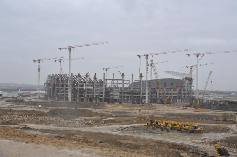 The 65,000-capacity Olympic Stadium, which is currently under construction, will host the Baku 2015 Opening and Closing Ceremonies ©Baku 2015