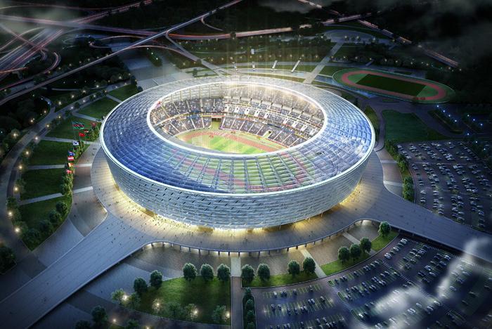 The Baku Olympic Stadium is due to be ready by February 2015 ©Baku 2015