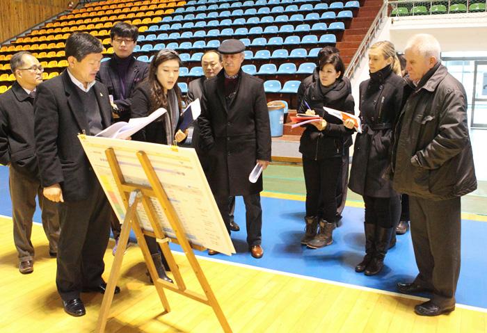 The CSU visited 12 sports venues today on its pre-inspection of Gwangju 2015 facilities ©Gwangju 2015
