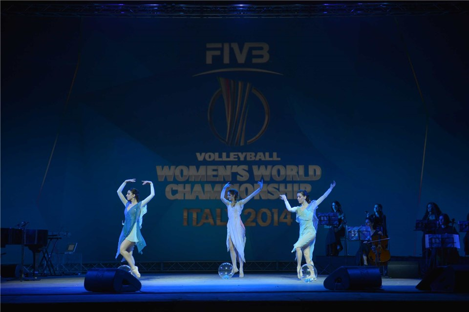 The Drawing of the Lots for the 2014 FIVB Volleyball Women's World Championships took place at the Farnese Theatre in Parma today ©2014 FIVB