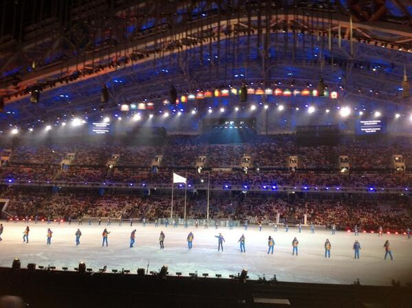 The Fisht Stadium is filling up ahead of the Closing Ceremony ©Twitter