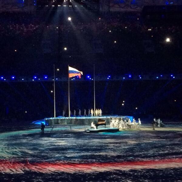 The Flag being handed over the Pyeongchang 2018 ©Twitter