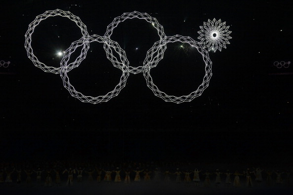 The IOC has said it is opposed to Dmitry Medvedev's attempt to trademark the defective Olympic logo seen at the Sochi Winter Olympics' Opening Ceremony ©Getty Images