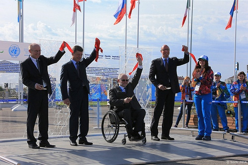 The Sochi 2014 Paralympic Wall was offically unveiled today at a ceremony in the Coastal Village ©Sochi 2014