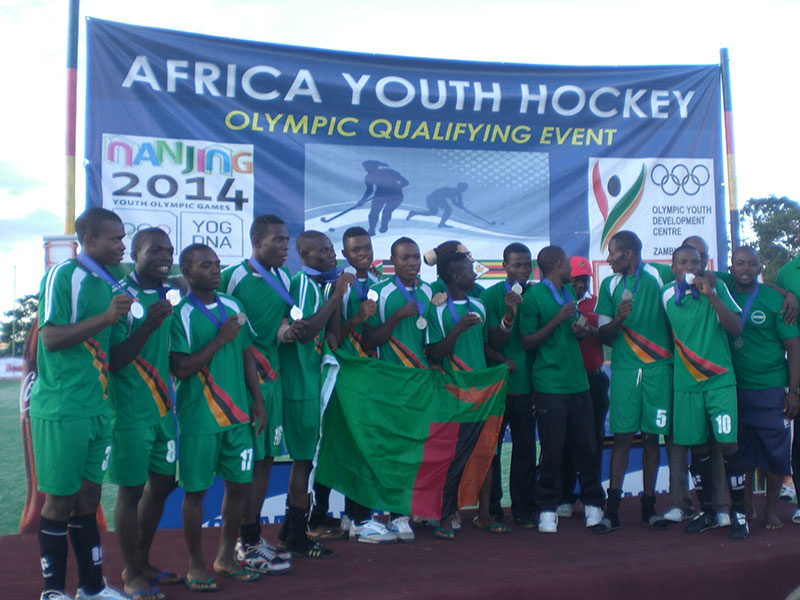 The South African and Zambian hockey squads have qualified for the Nanjing 2014 Youth Olympics ©FIH