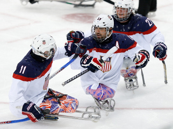 The US celebrate taking the lead ©Getty Images