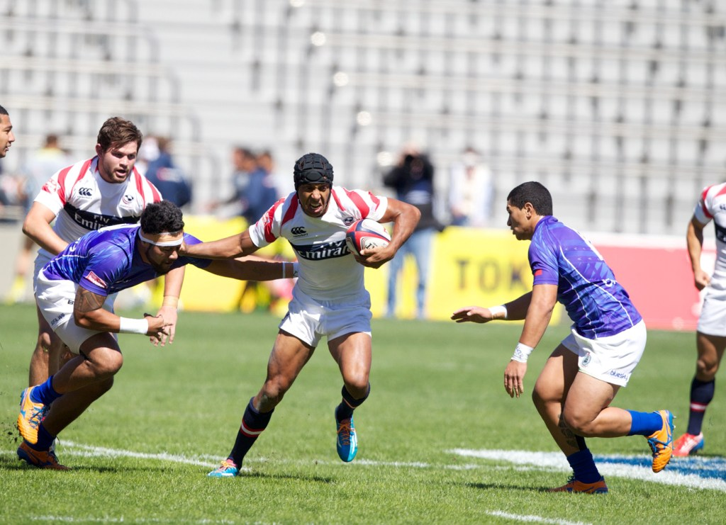 America progressed to their first quarter-final of the 2013-2014 HSBC Sevens World Series with an impressive performance at the Tokyo Sevens ©IRB