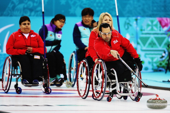 The US wheelchair curling team have been beaten by South Korea this afternoon ©Getty Images