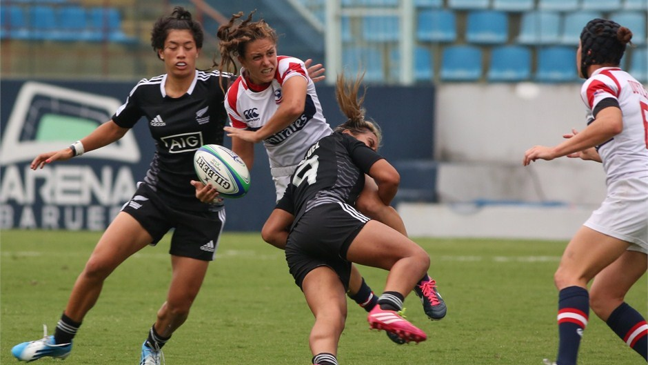 The United States have announced their 12-player team for the upcoming Guangzhou Sevens, the fourth leg of the 2013-2014 IRB Women's Sevens World Series ©IRB/Joao Neto