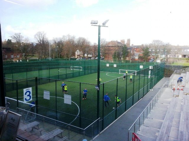 The Wigan Youth Zone has four Astro-turf pitches that were funded by Wigan Athletic Football Club ©ITG