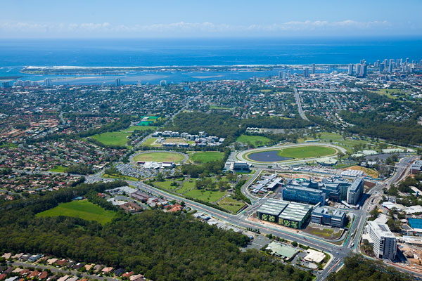 The site of the Commonwealth Games Village development, Parklands ©Queensland Government