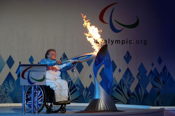 There was also a special heritage Flame Lighting event on Saturday in Britain to mark Stoke Mandeville's founding role in the Paralympic Movement ©Getty Images