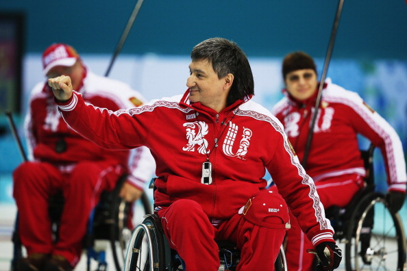 There was success for Russia in curling as well this morning as Marat Romanov celebrates victory over China