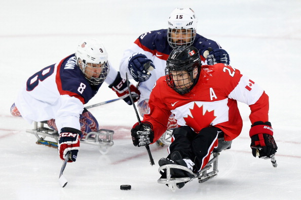 There were 10,000 online live video views of the Canada versus United States ice sledge hockey semi-final game at Sochi 2014 ©Getty Images