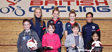 Top female cyclists and footballers have helped launch a new campaign to get more women into sport ©British Cycling