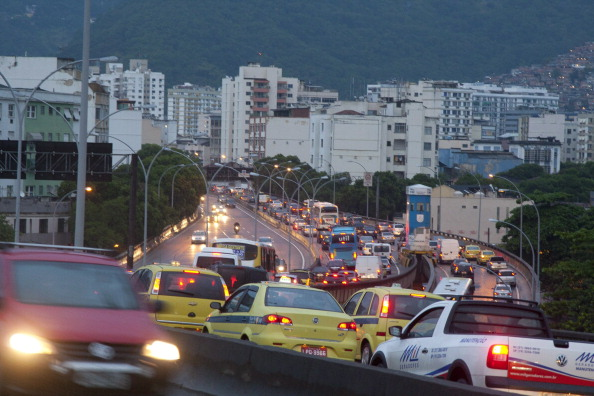 Traffic has increasingly become an issue in Rio de Janeiro ©Globo via Getty Images