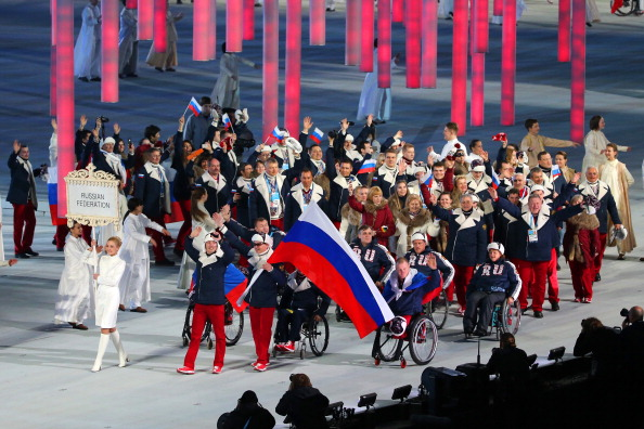 Valerii Redkozubov was the Russian Flagbearer at the Opening Ceremony last Friday and he is currently on course for gold ©Getty Images