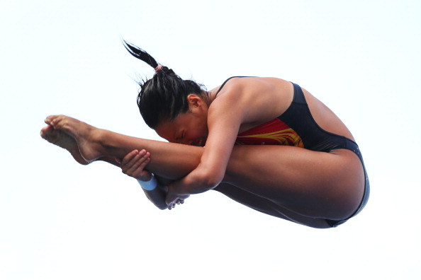 Wang Han stole victory from compatriot He Zi on day two of the FINA Diving World Series in Beijing ©Getty Images