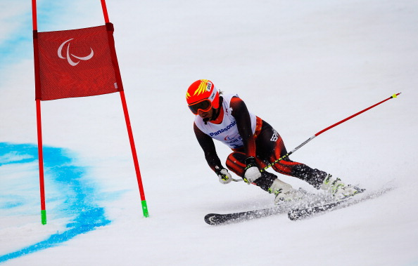 Spain's Yon Santacana Maiztegui is lying third in the giant slalom visually impaired after the first run ©Getty Images