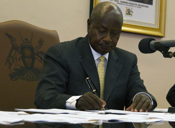 President Yoweri Museveni signed the anti-gay rights bill last week...but Ugandan officials remain likely to attend Glasgow 2014 ©AFP/Getty Images