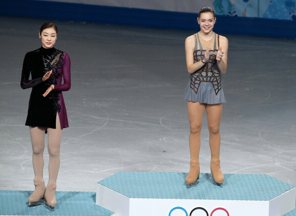 Yuna Kim was somewhat surprisingly beaten by Adelina Sotnikova in Sochi ©Getty Images