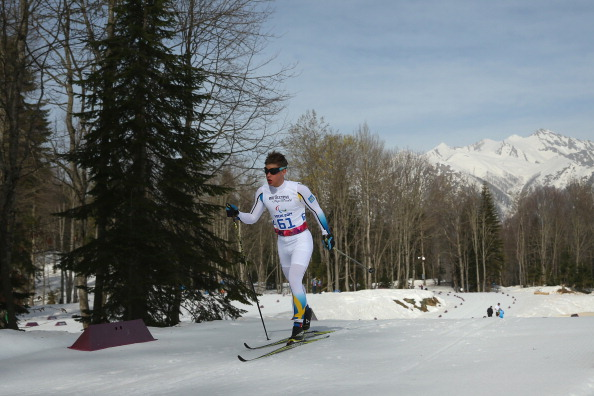 Zebastian Modin of Sweden competes in the 20km visually impaired event ©Getty Images