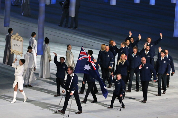 Carrying Australia's flag at the Opening Ceremony is going to be the extent of Cameron Rahles-Rahbula's participation at Sochi 2014 after injury forced him to withdraw ©Getty Images