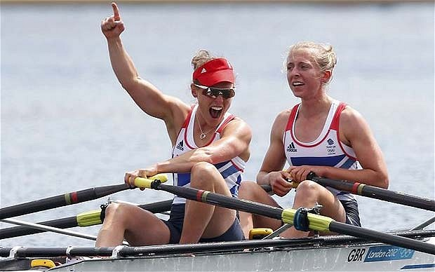 Sophie Hosking and Katherine Copeland were among the British rowers who enjoyed success at London 2012, a performance rewarded by UK Sport in increased funding for Rio 2016 ©Getty Images
