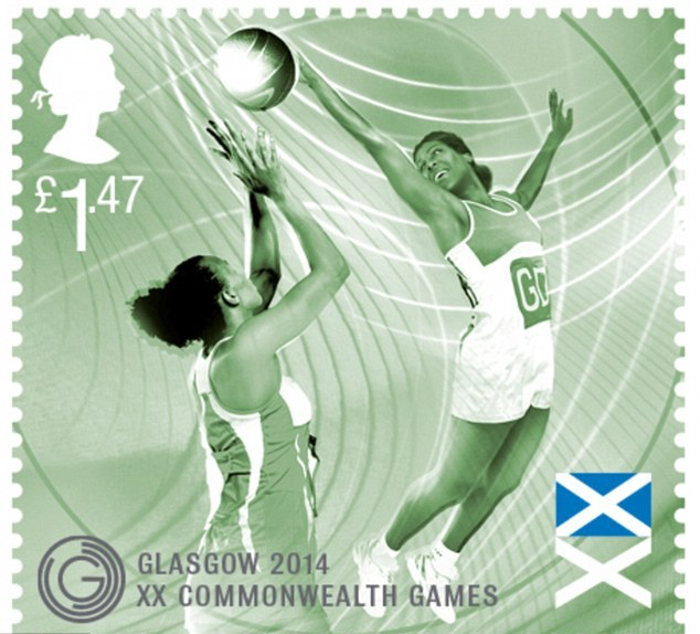 A special set of stamps will be launched by Royal Mail in July to mark the Glasgow 2014 Commonwealth Games ©Royal Mail