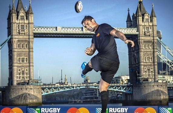 All Black legend Dan Carter was at the announcement of MasterCard as an official worldwide partner of the Rugby World Cup 2015 ©IRB