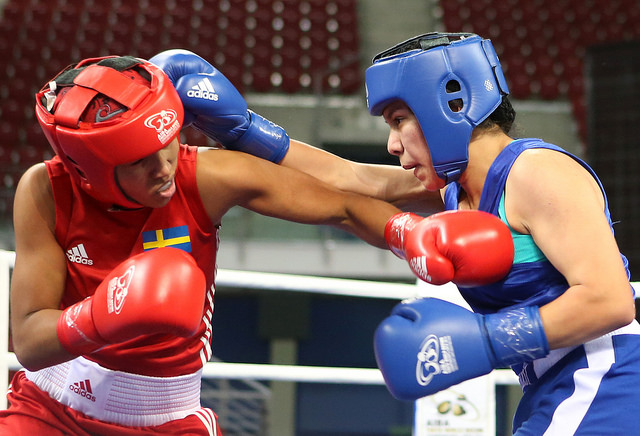 American youngster Jajaira Gonzalez has knocked out gold medal favourite Agnes Alexiusson of Sweden in the women's lightweight division of the AIBA Youth World Boxing Championships ©AIBA