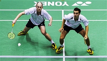 Andrew Ellis and Chris Adcock could be two of the players to star in the new National Badminton League launched by Badminton England today ©Getty Images